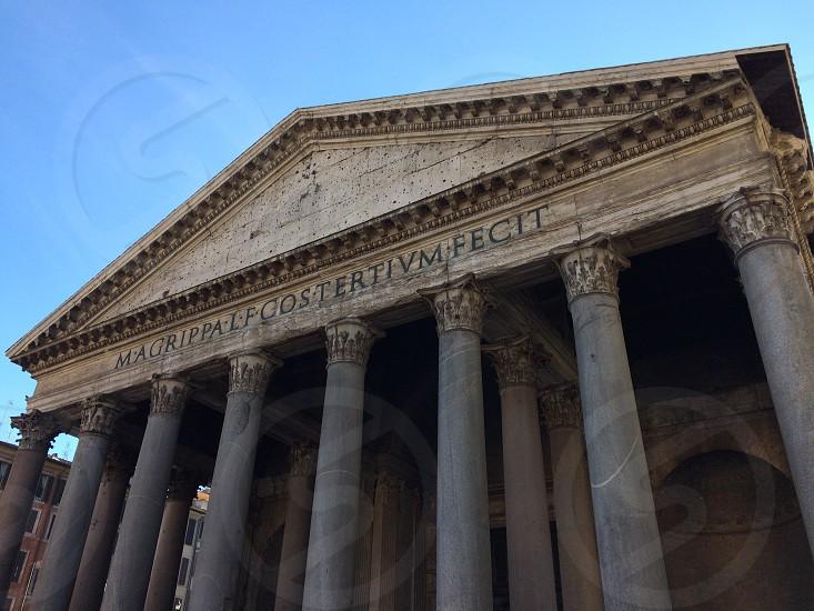Pantheon rome Italy history Roman history columns photo