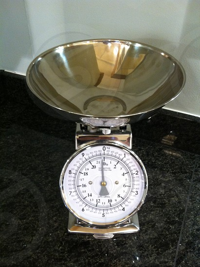 Weighing scales kitchen photo
