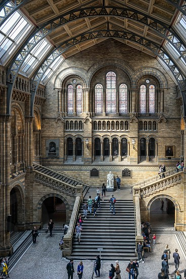 People Exploring  the National History Museum in London photo
