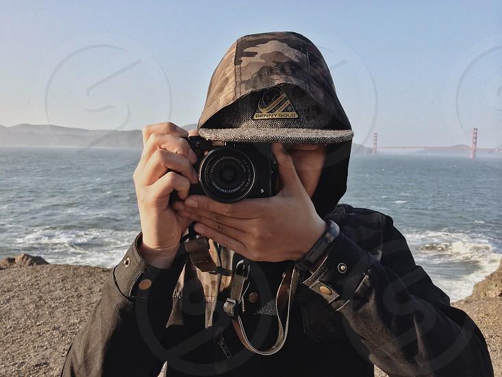 slr black camera photo