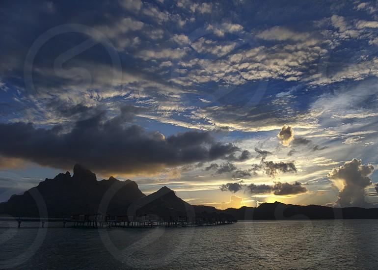 Bora Bora sunset photo