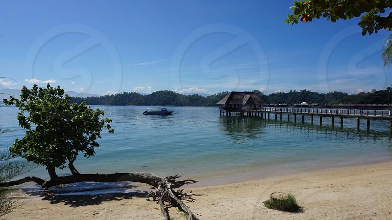 Gaya Island Borneo Kota Kinabalu beach sand sea photo