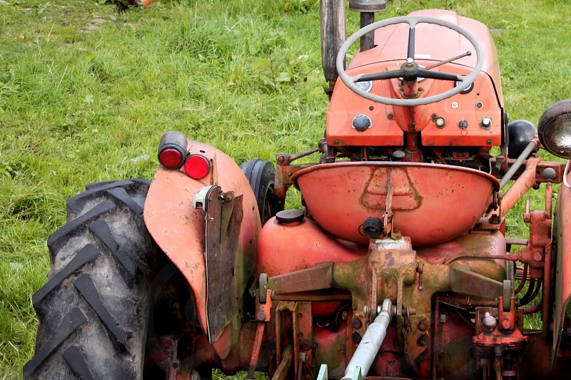 The working tractor photo