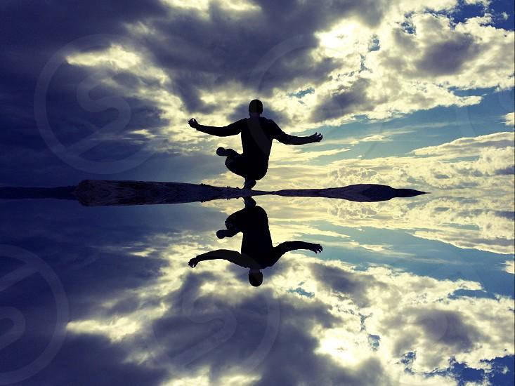 Yoga at dusk photo