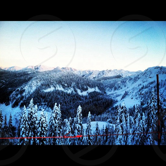 A look over the backside of Stevens Pass Washington PNW photo