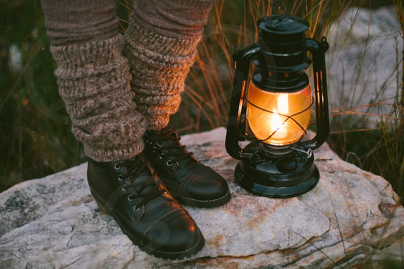 camp vibes vibes camp light lamp camp light boots outdoors knitwear socks cosy fluffy warm snuggle explore adventure nature outside photo