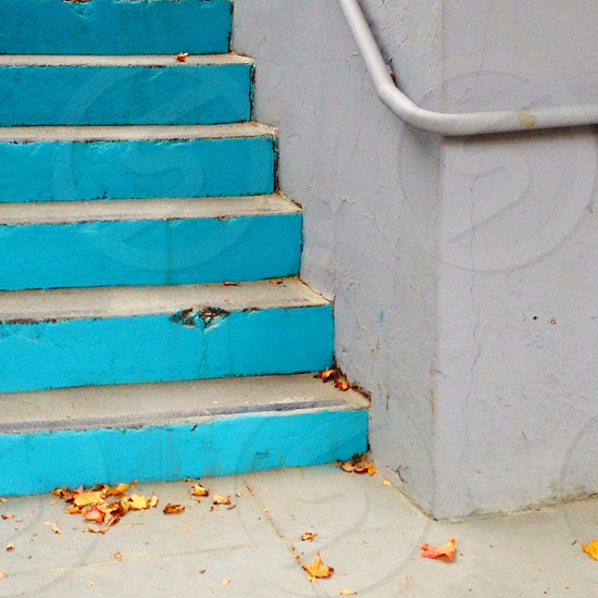 Blue stairs photo