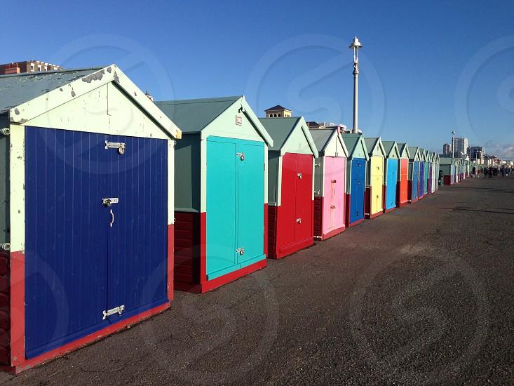 Brighton Beach Hut on Hove Seafront UK photo