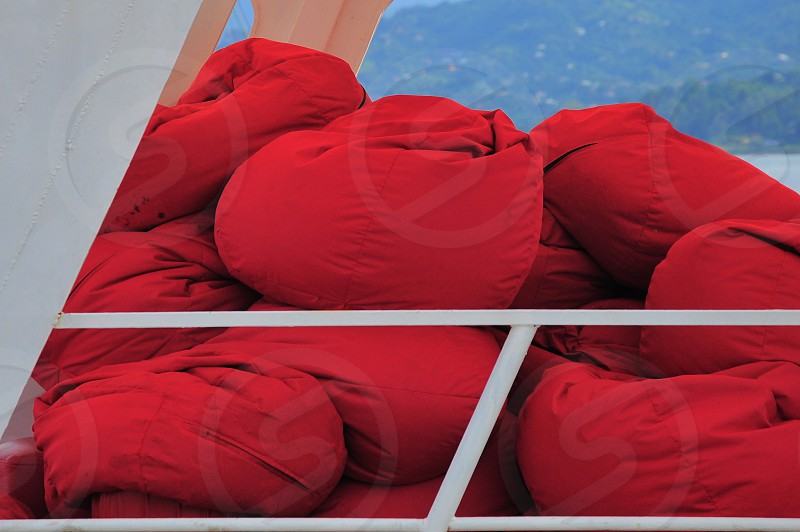 red bean bags photo