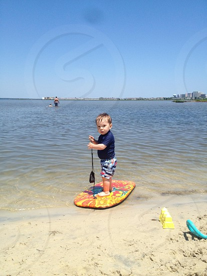 Baby surfer photo