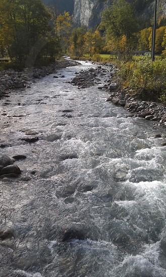 Running river. Bern Switzerland. photo