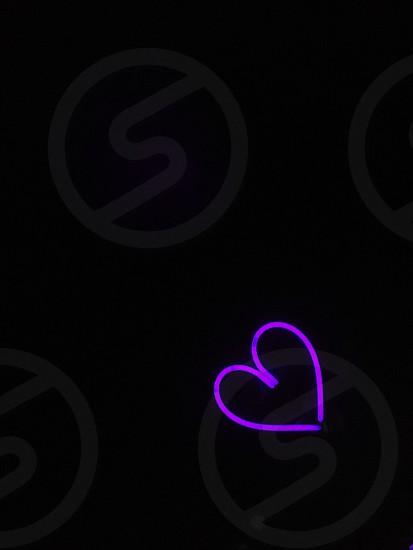 Neon heart  photo