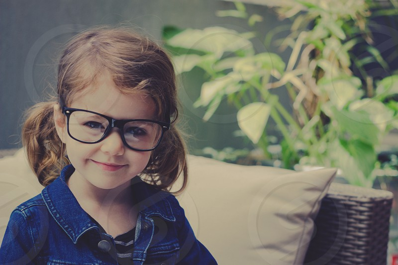 getting ready for school glasses photo
