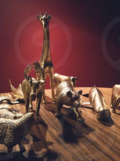 copper giraffe figure  photo