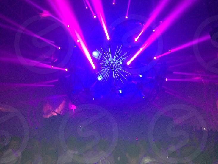 purple light rays photo
