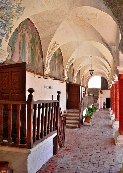 Monastery  Arequipa Peru. The majority part of the Monastery is open to the public. photo