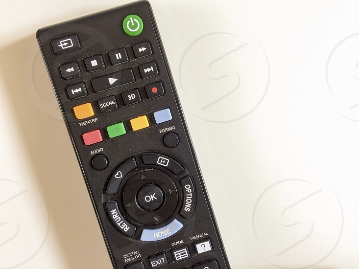 aerial view of a TV remote controller photo