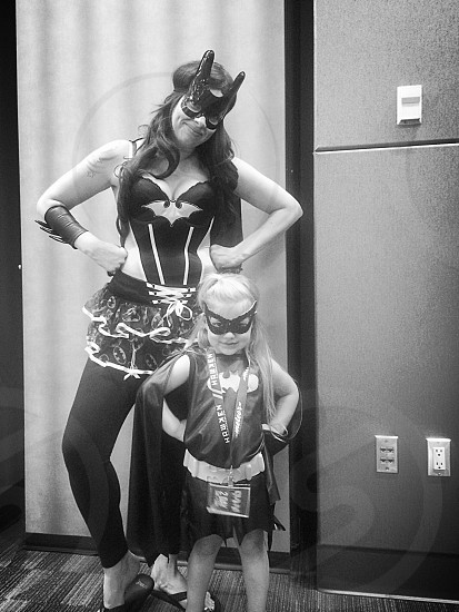 Batmom and batdaughter....fighting crime before nap time photo