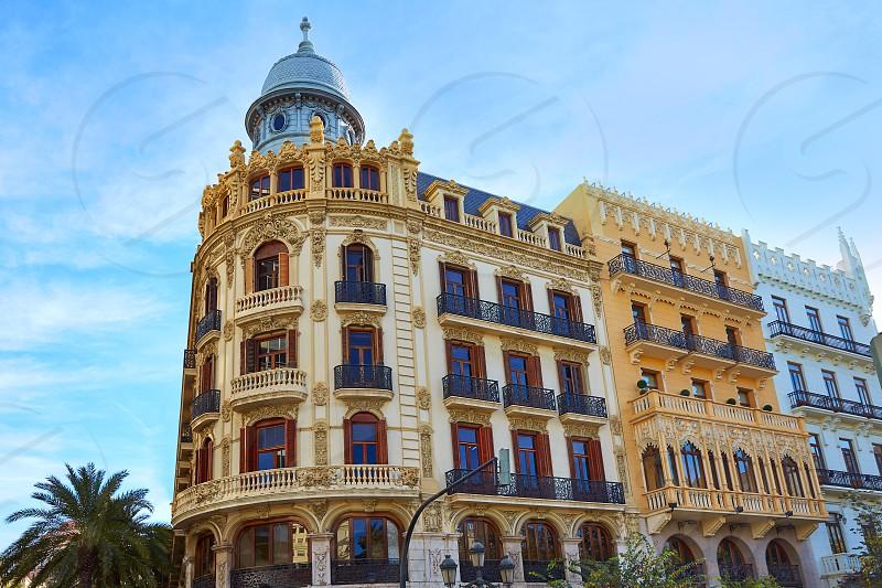 Valencia Ayuntamiento square Casa Ferrer building at Spain photo
