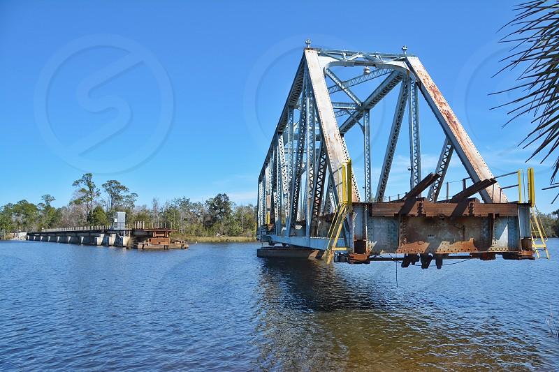 River and open bridge  photo