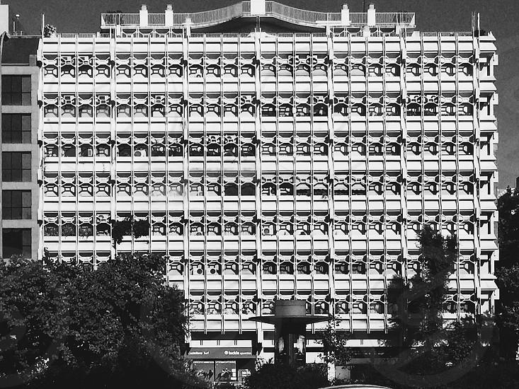 Monochrome design exterior modern architecture photo
