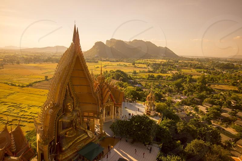 the wat tham sua near the City of Kanchanaburi in Central Thailand in Southeastasia.   photo