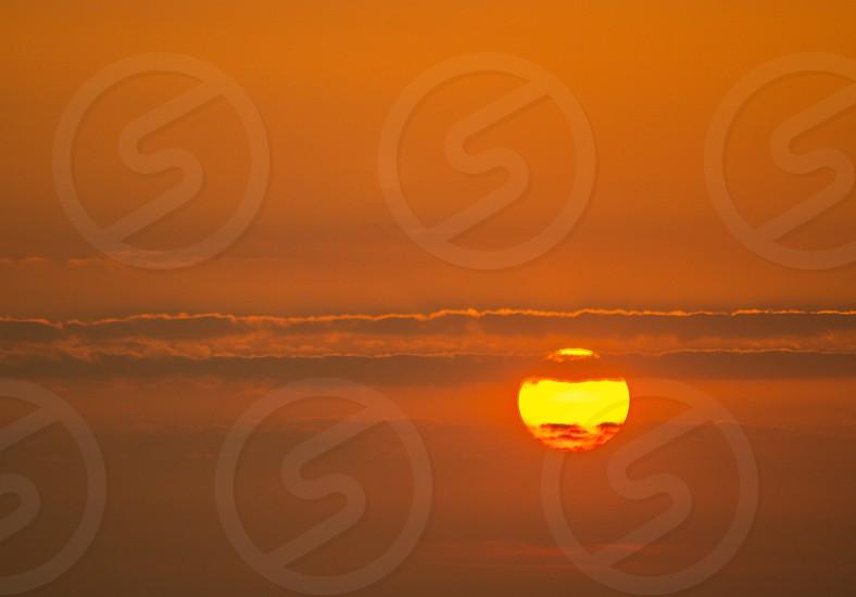 warm sunset photo