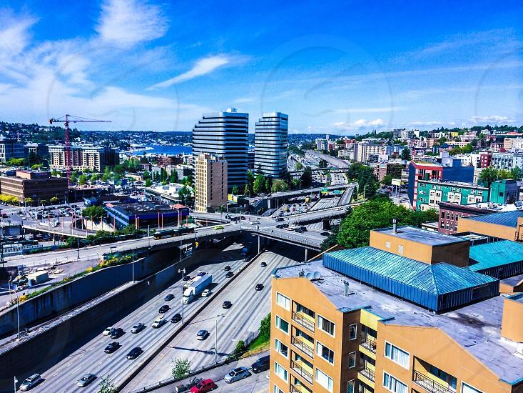 I5 thru dt Seattle.  photo