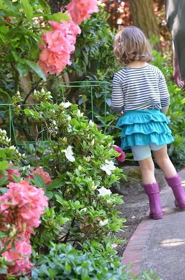 Gardening childhood  photo
