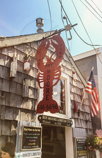 Massachusetts rockport Americana small town fishing town lobster travel road trip  photo