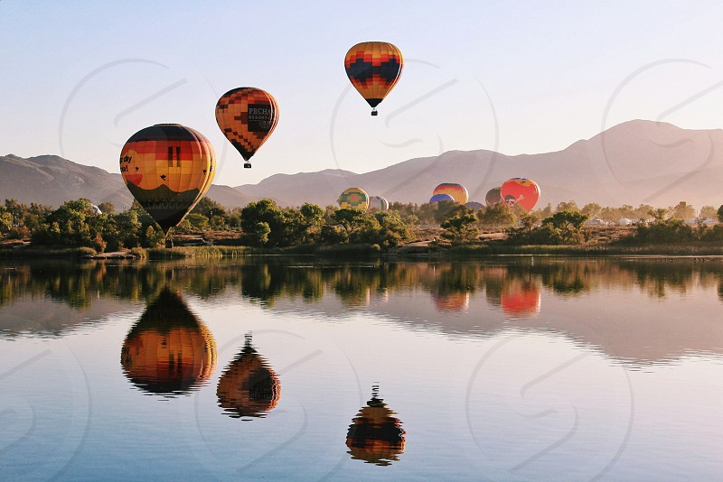 photography of air balloons photo