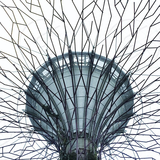 standing cylindrical round-head  gray metal  structure photo