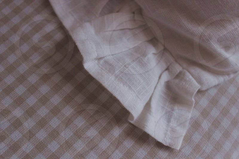 white table napkin photo
