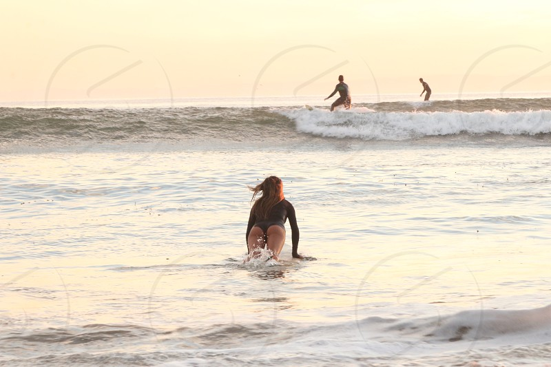 Santa Barbara surf sunset ocean sun water isla vista  photo