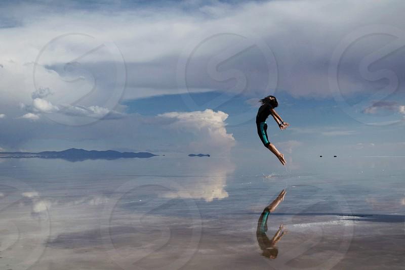 Fly.  Salar de Uyuni Bolivia photo