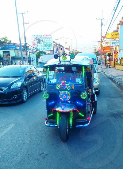 Chiangmai Thailand. Flashy TukTuk photo