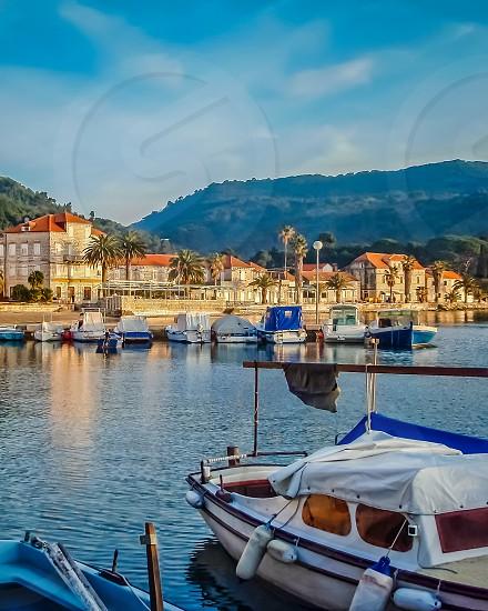 Croatian Harbor Sunset photo