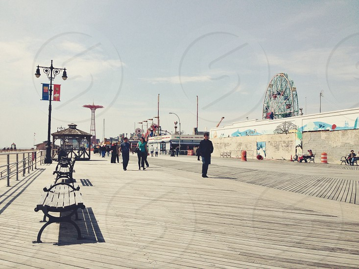 park in the seashore photo
