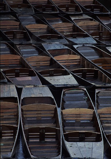 Punts Winter Oxford Oxfordshire England photo