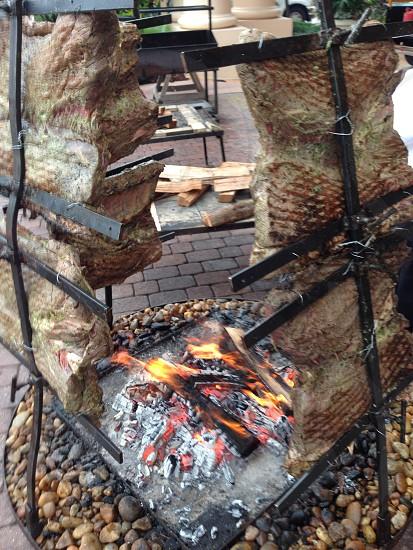 Bbq Argentinian BBQ wood grill chef kitchen  photo