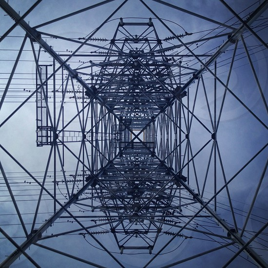 gray transmission tower photo