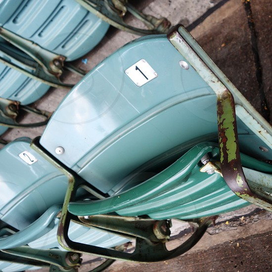 Seats at wrigley field photo