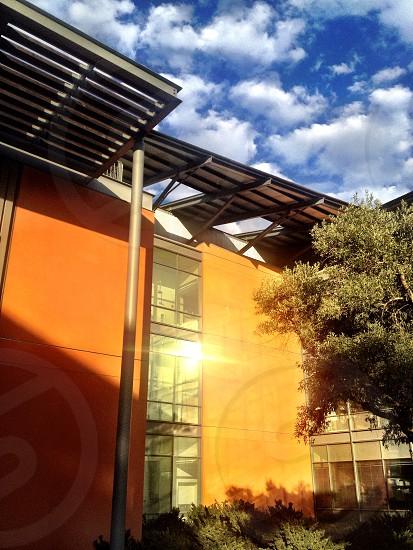 orange painted building photo