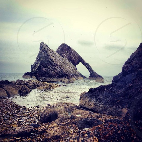 Bow and fiddler rock Scotland photo