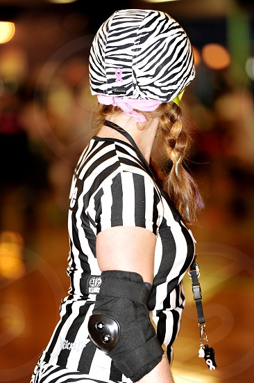 Female Roller Derby Referee photo