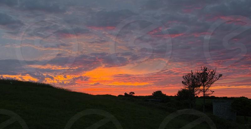 Summer sunset photo
