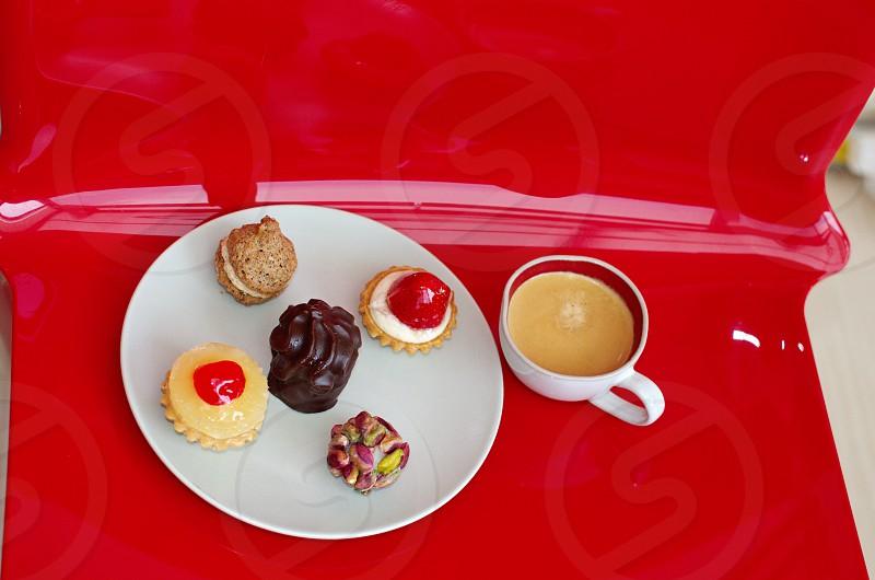 Coffee and sweets photo