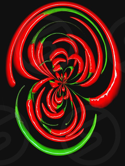 fresh red chili pepper distortion effect background photo