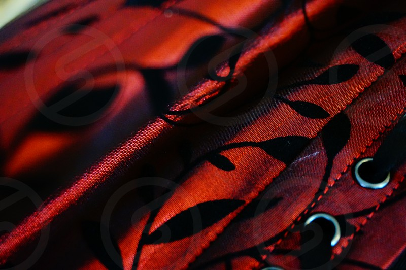 black and red textile photo
