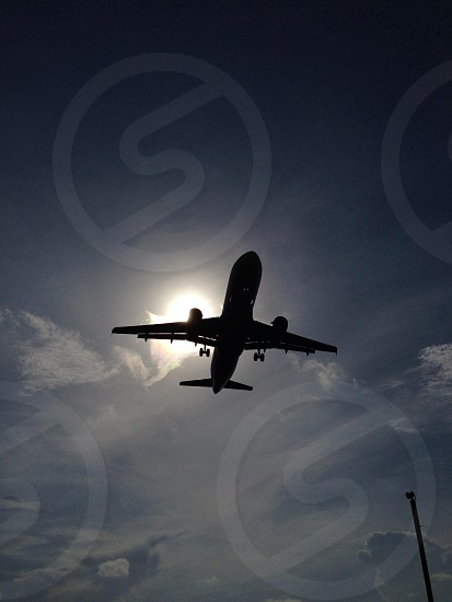 airplane silhouette photo